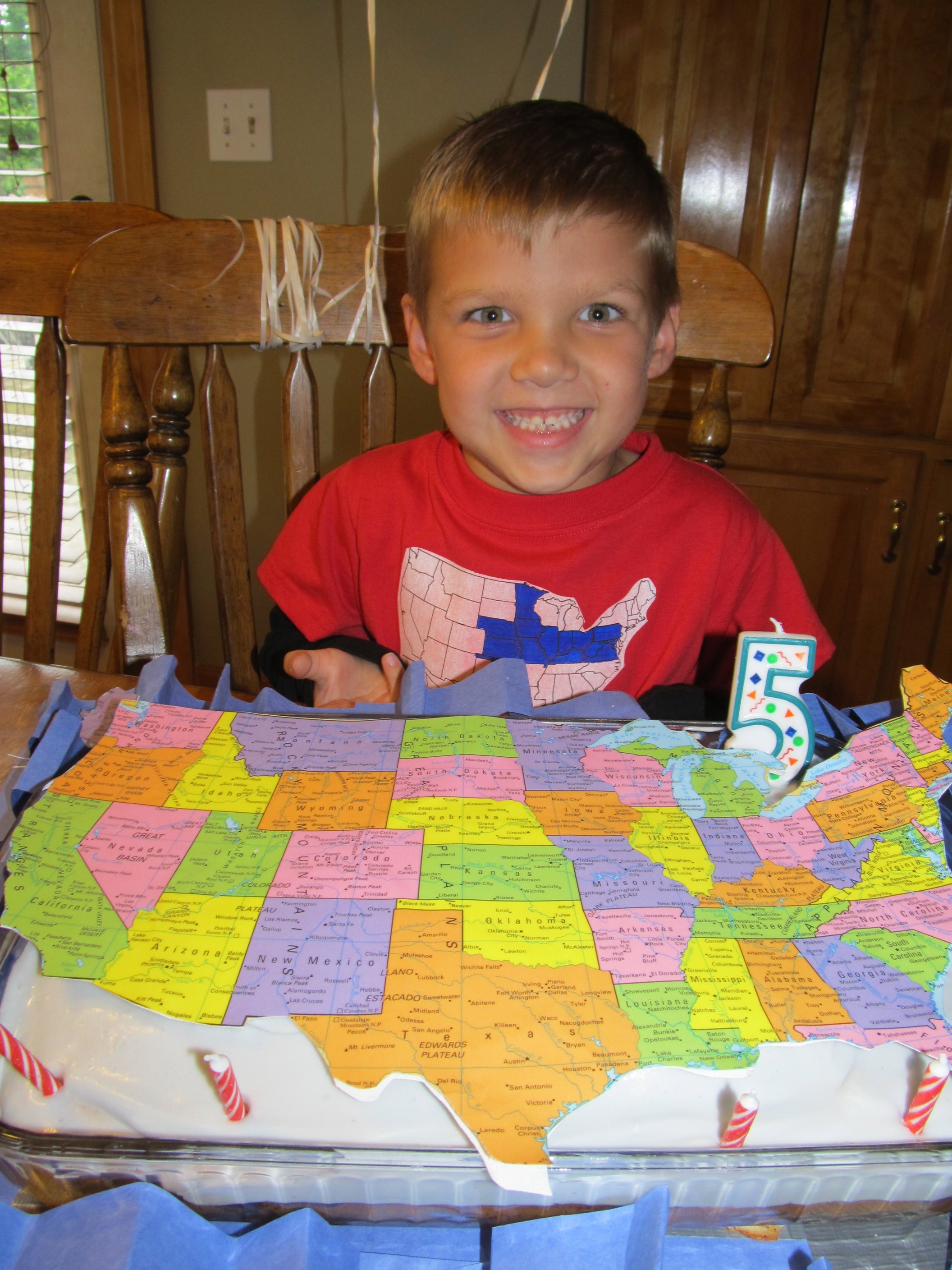 my apologies to canada and mexico you didn t make the cut for the cake but rest ured the kids know where you are on the map
