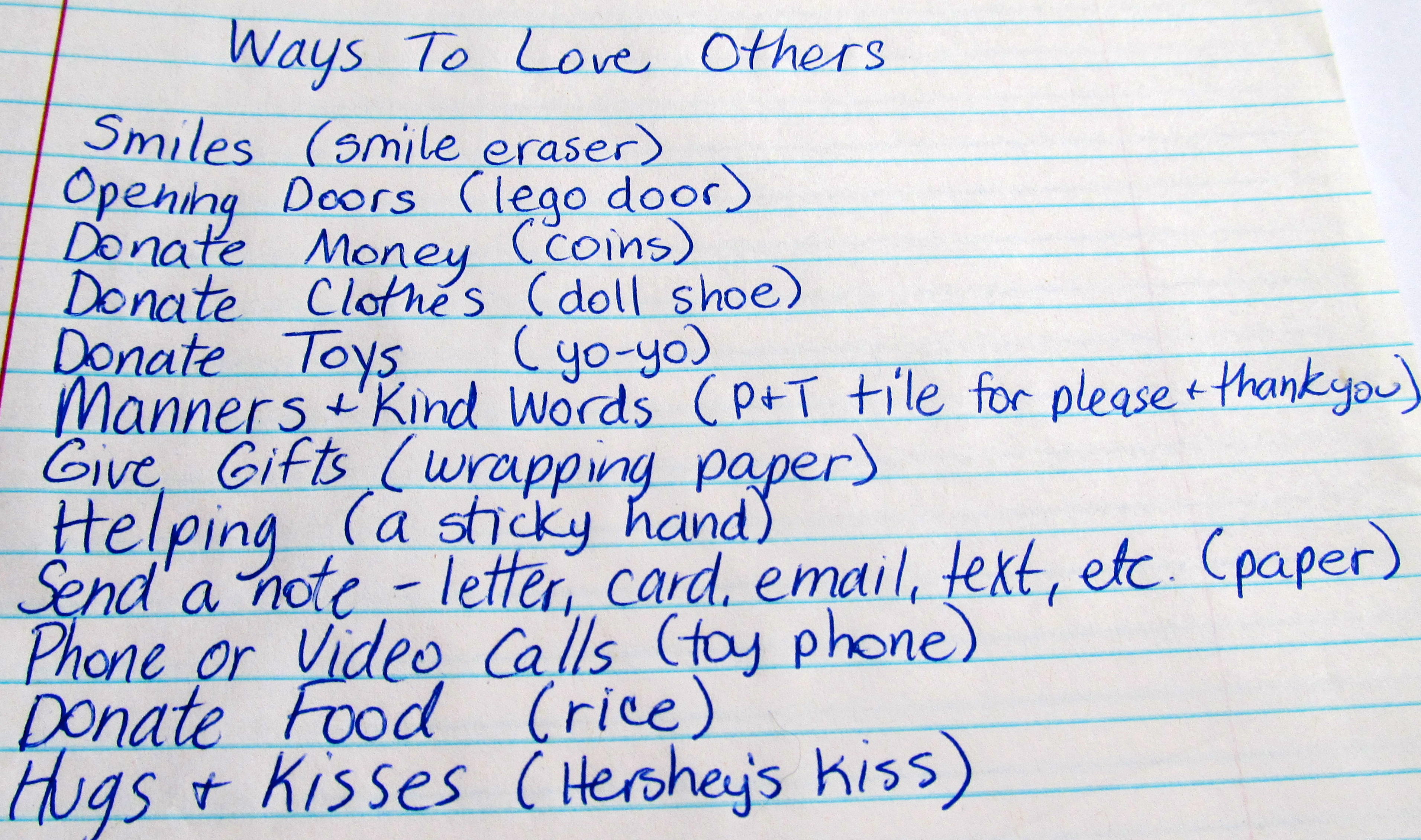 how to show your love to others